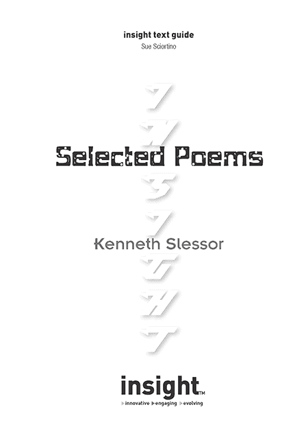Selected Poems-Slessor - Insight Text Guide
