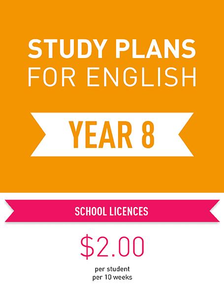 Study Plans for English: Year 8 - Digital format