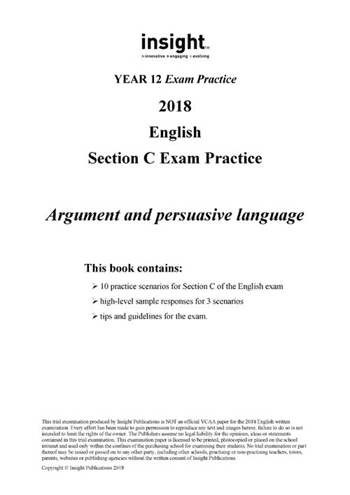 Insight English: Section C Exam Practice 2018