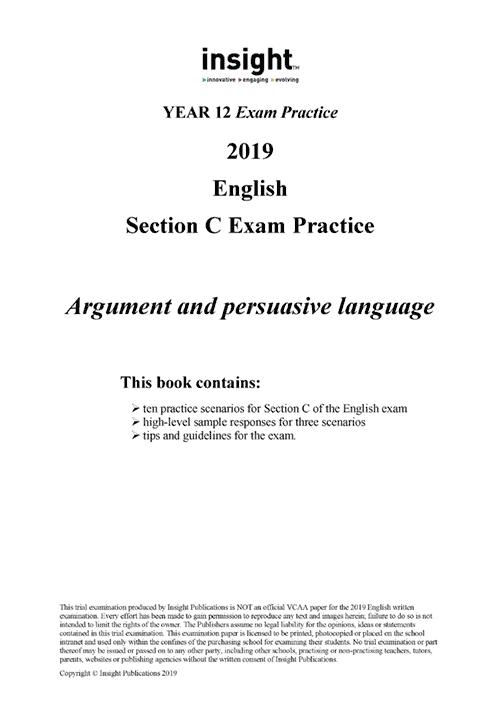 Insight English: Section C Exam Practice 2019